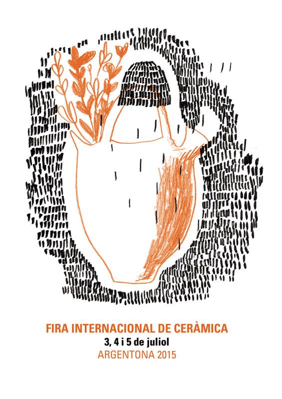 Cartel de la Feria Internacional de Cerámica de Argentona 2015