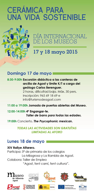 Programa de el Día internacional de los museos en Agost -Alicante-