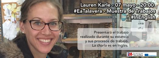 Cartel de la conferencia de Lauren Karle