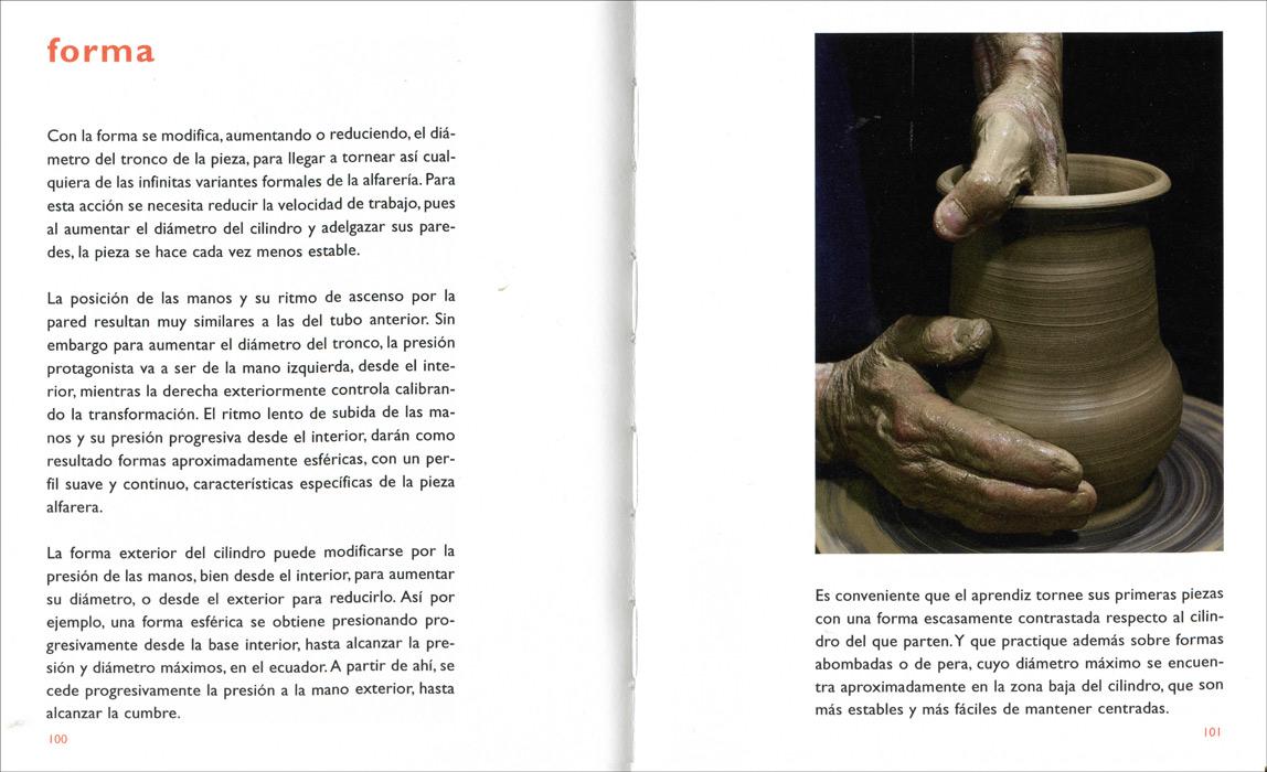 Páginas interiores del libro -Alfarería, manual básico-, de Alfonso d'Ors