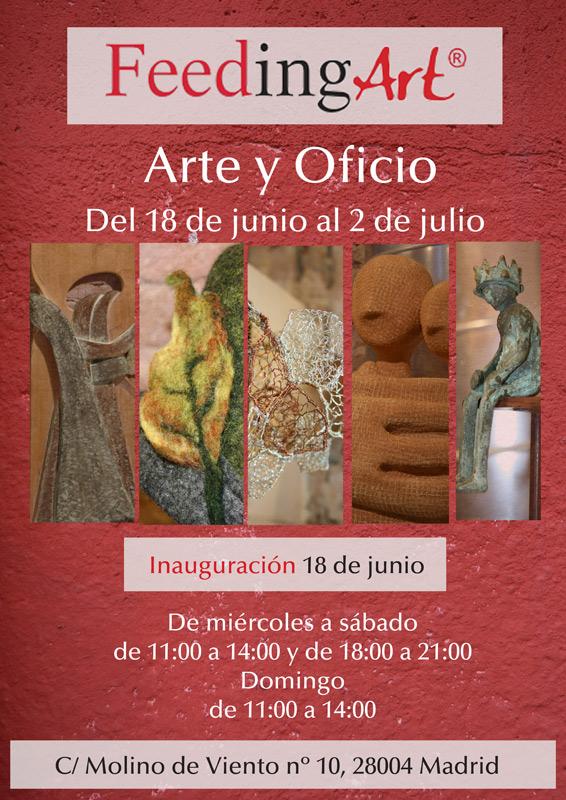 Cartel de la exposición -Arte y Oficio-, en FeedingArt, Madrid