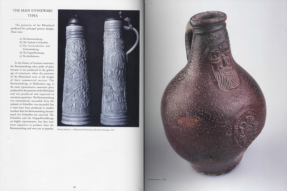 Páginas interiores del libro Early German Stoneware