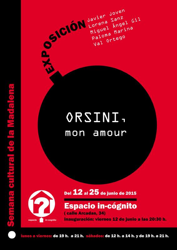 Cartel de la exposición -Orsini, mon amour-