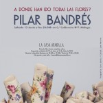 Cartel de la exposición de cerámica de Pilar Bandrés