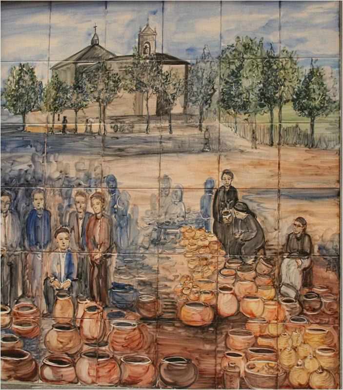 Mural cerámica de Teresa Lima y Mª Jesús Sheriff