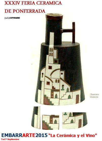 Cartel de la feria de cerámica de Ponferrada 2015