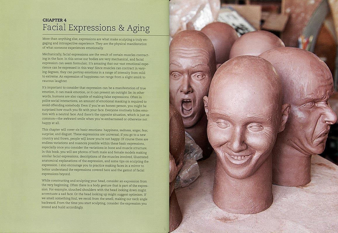 Páginas interiores del libro Ceramic Scuulpture: Making Faces, de Alex Irvine