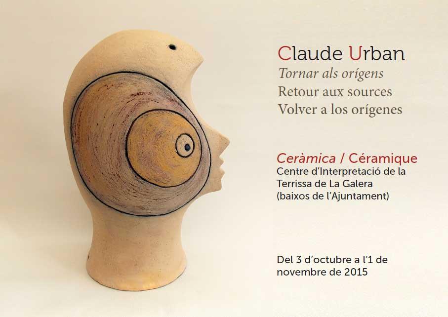 Cartel de la exposición de Claude Urban