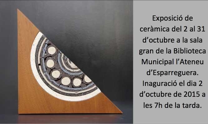 Cartel de la exposición de Ceràmiques Sedó