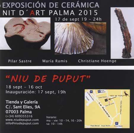 Cartel de la exposición de maria ramis