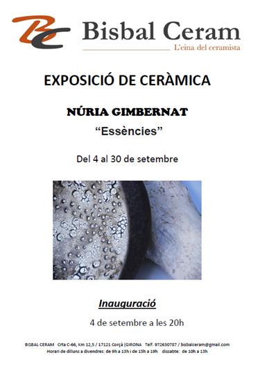 Cartel de la exposición de Nuria Gimbernat en Bisbalceram, Celrà, Girona