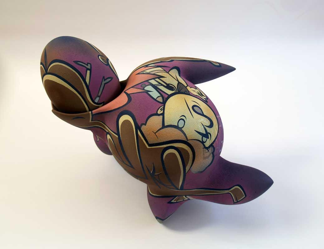 Escultura cerámica de Takashi Hinoda