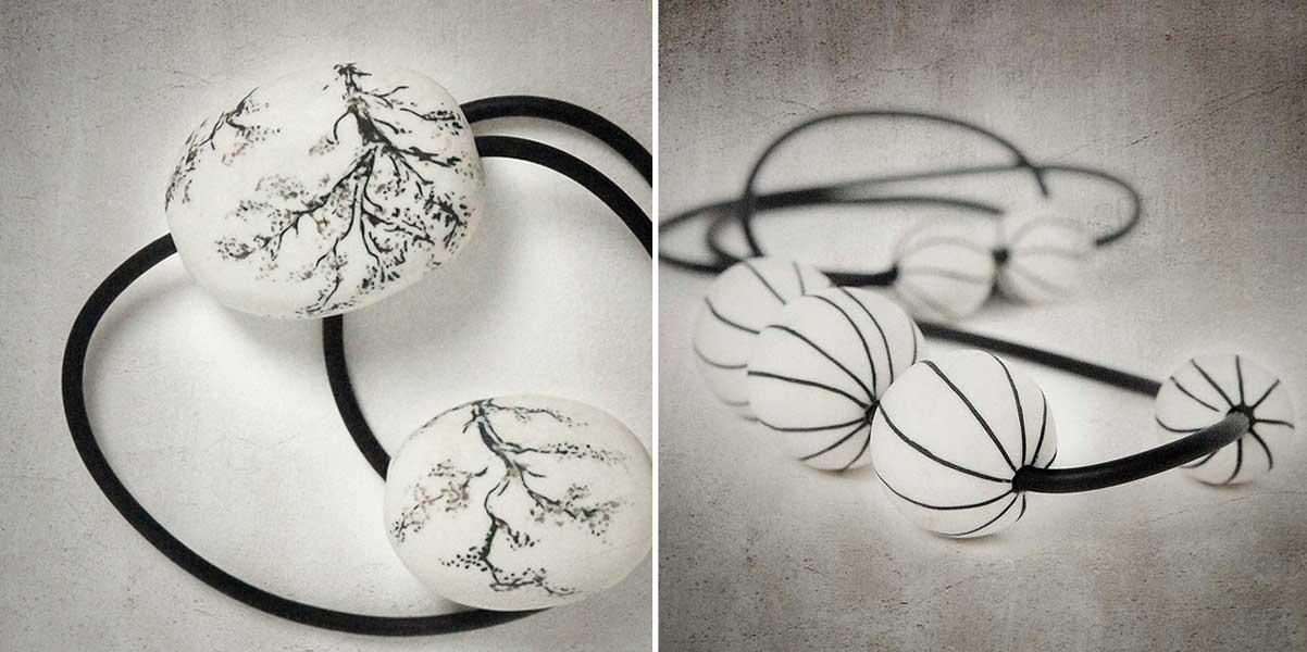 Piezas de porcelana para joyería