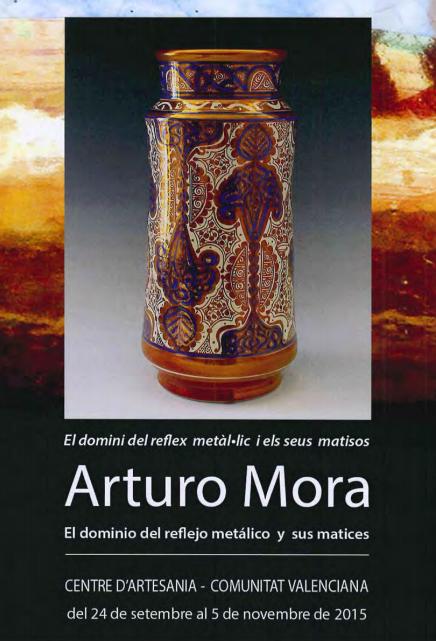 Cartel de la exposición de Arturo Mora
