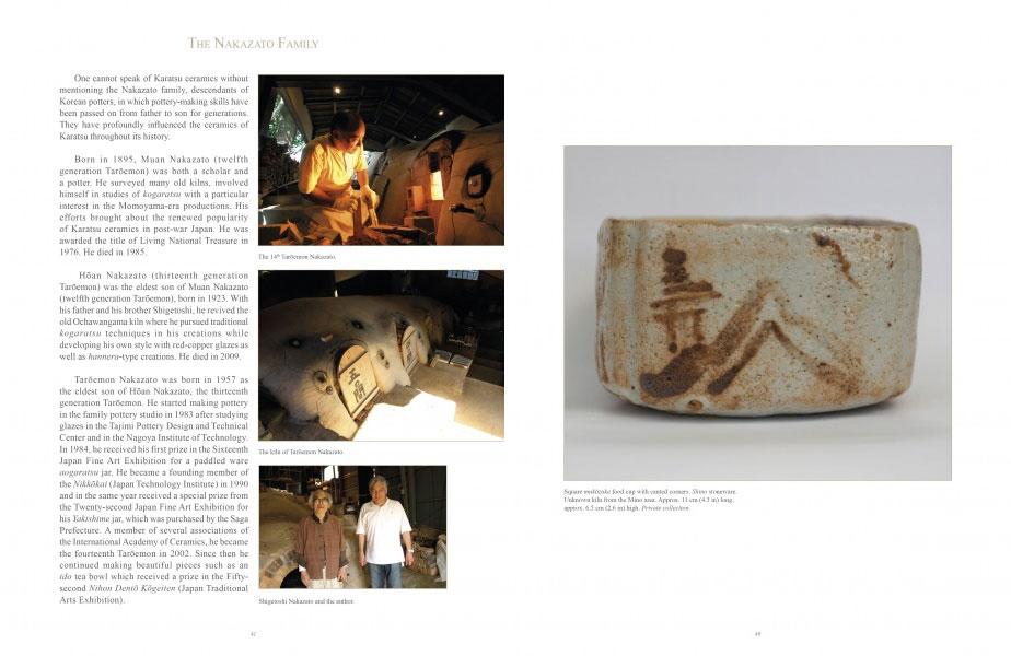 Páginas interiores del libro The Golden Age of Karatsu Stoneware