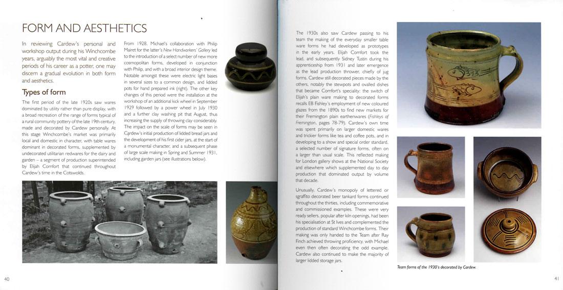 Páginas interiores del libro Michael Cardew & Winchcombe Pottery