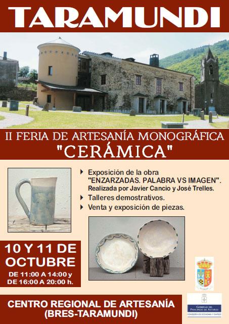 Cartel de la feria de cerámica de Taramundi, Asturias