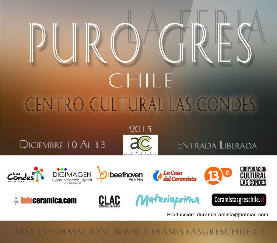 Cartel de la feria Purogres, de Santiago de Chile