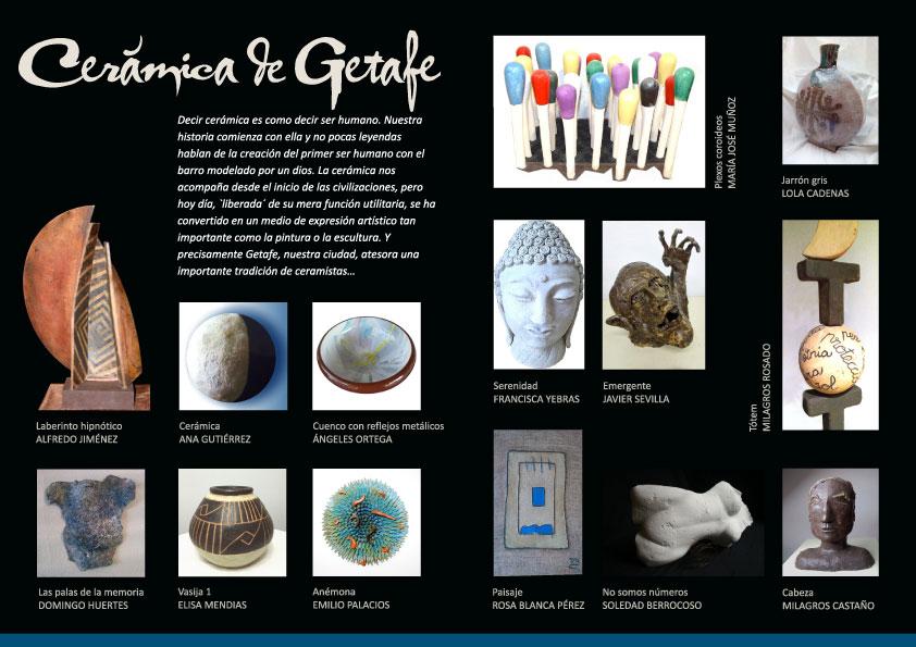 Cartel de la Exposición de ceramistas de Getafe