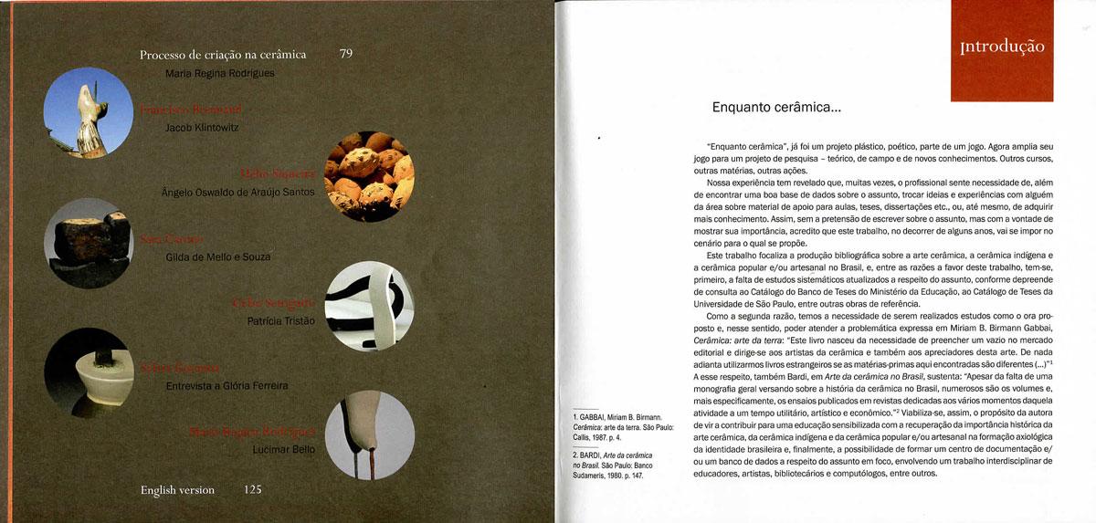 Páginas interiores del libro -A Cerâmica no Brasil-, de Mary Di Iorio