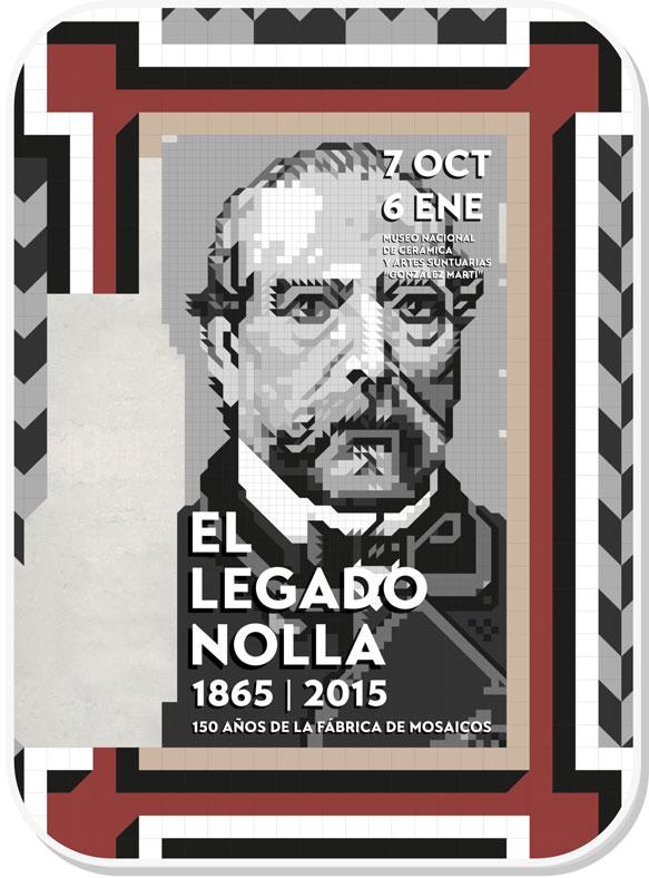 Cartel de la exposición El legado de nolla