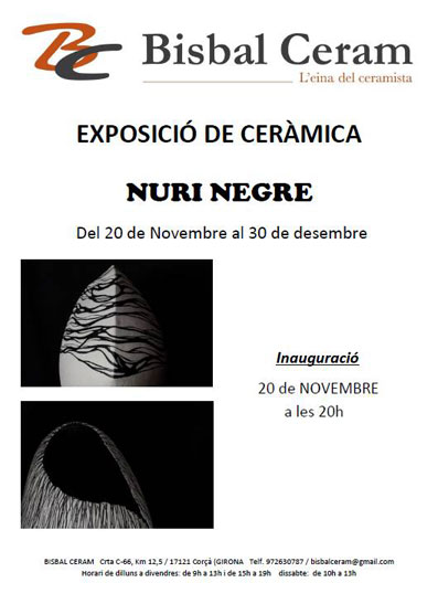Cartel de la exposición de Nuri Negre