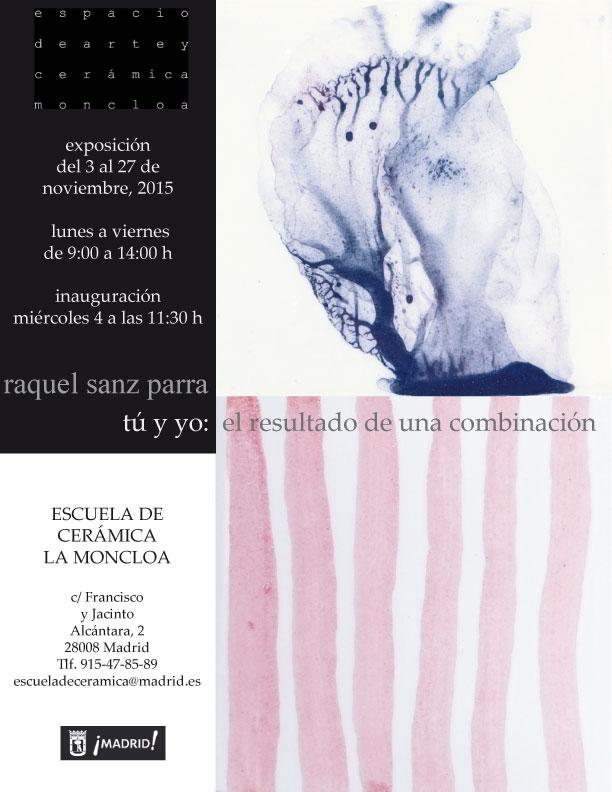 Cartel de la exposición de Raquel Sanz