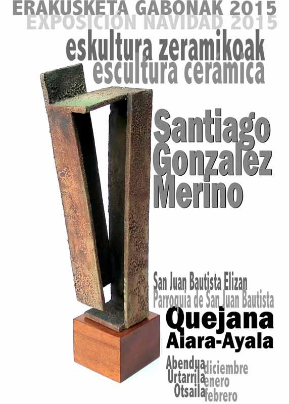 Cartel de la exposición de Santiago González Merino