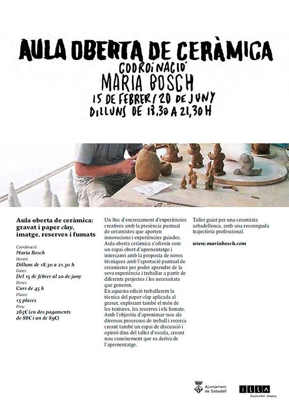 Cartel del curso de Maria Bosch