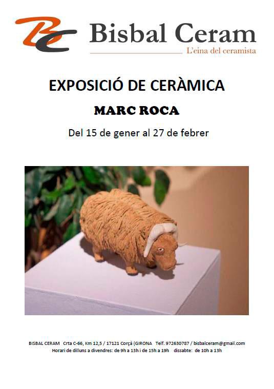 Cartel de la exposición de cerámica de Marc Roca