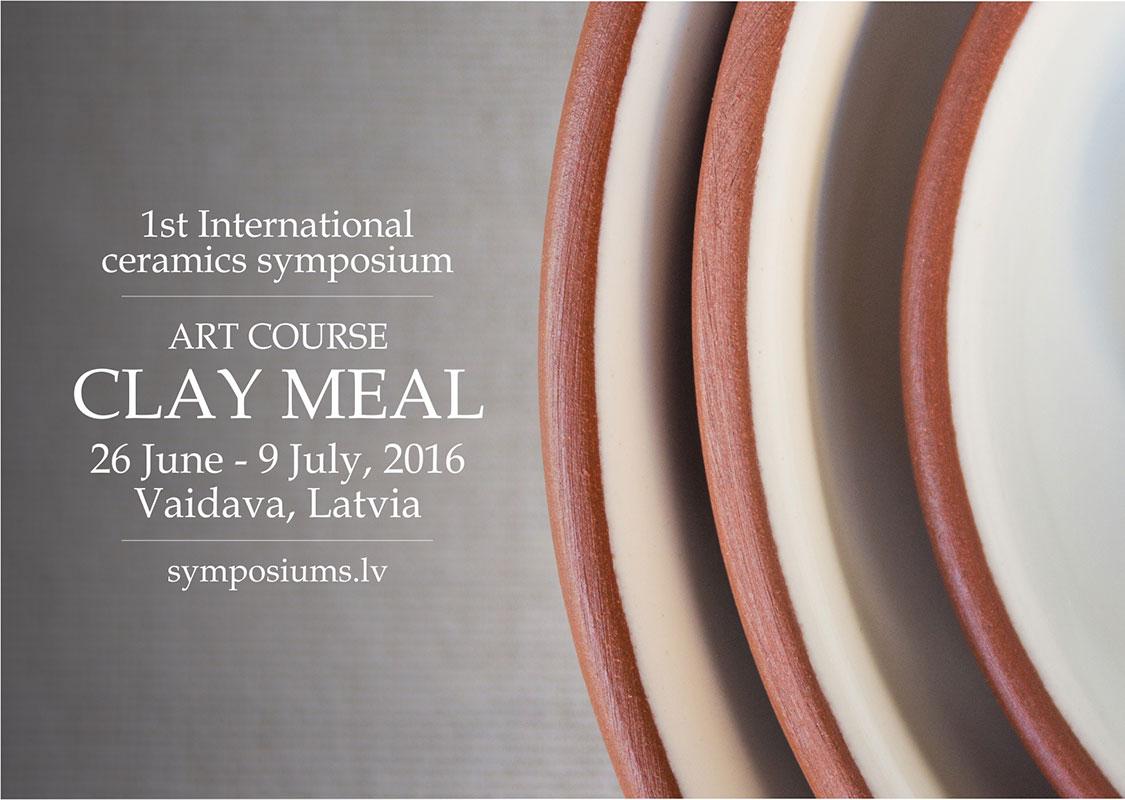 Cartel del simposio Clay-Meal 2016