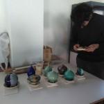 Pieza de cerámica con esmalte de cristalizaciones