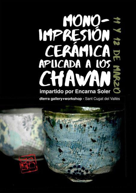 Cartel del curso de chawan de Encarna Soler