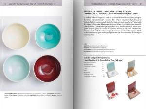 Páginas interiores del libro Guía de esmaltes cerámicos