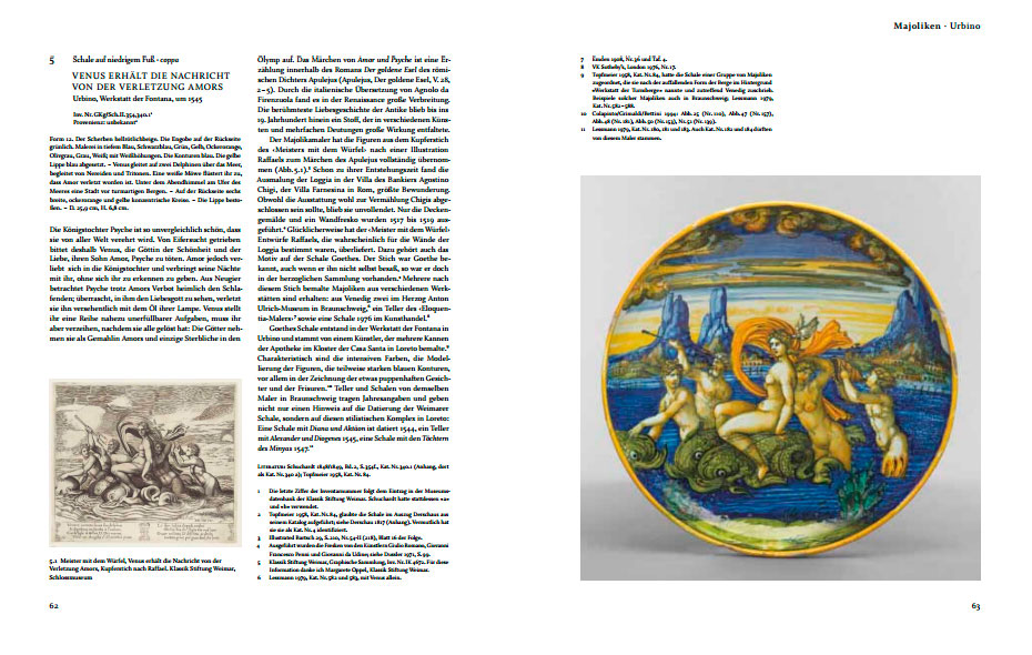 Páginas interiores del libro Italienische Majolika aus Goethes Besitz