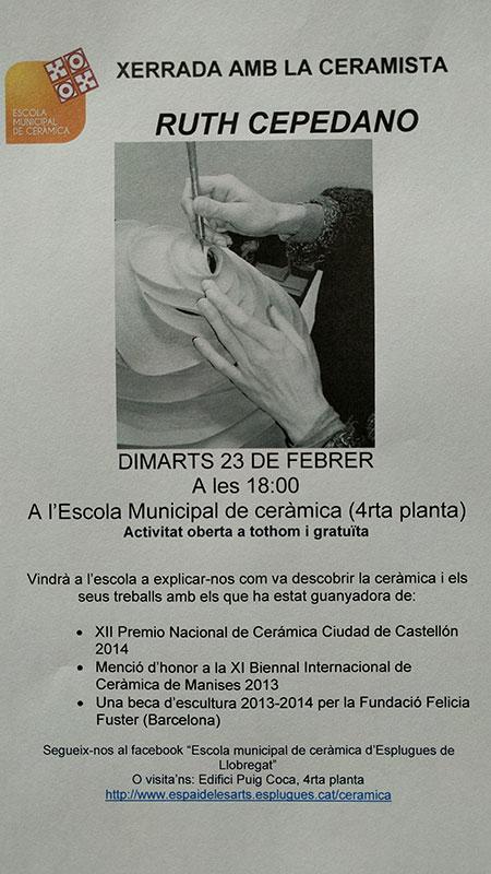 cartel de la jornada con Ruth Toledano