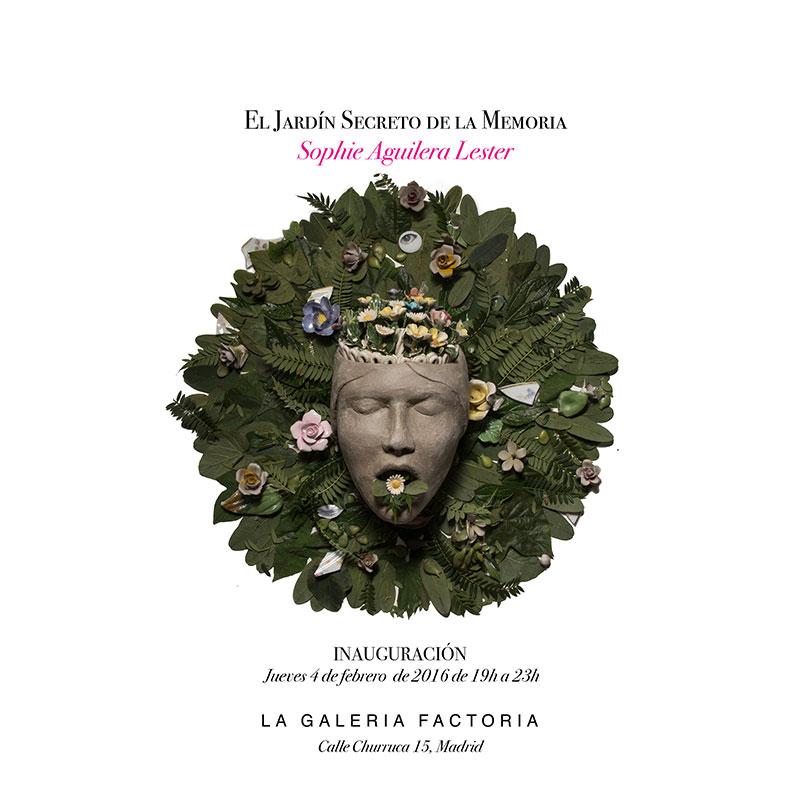 Cartel de la exposición de cerámica de Sophie Aguilera en Madrid