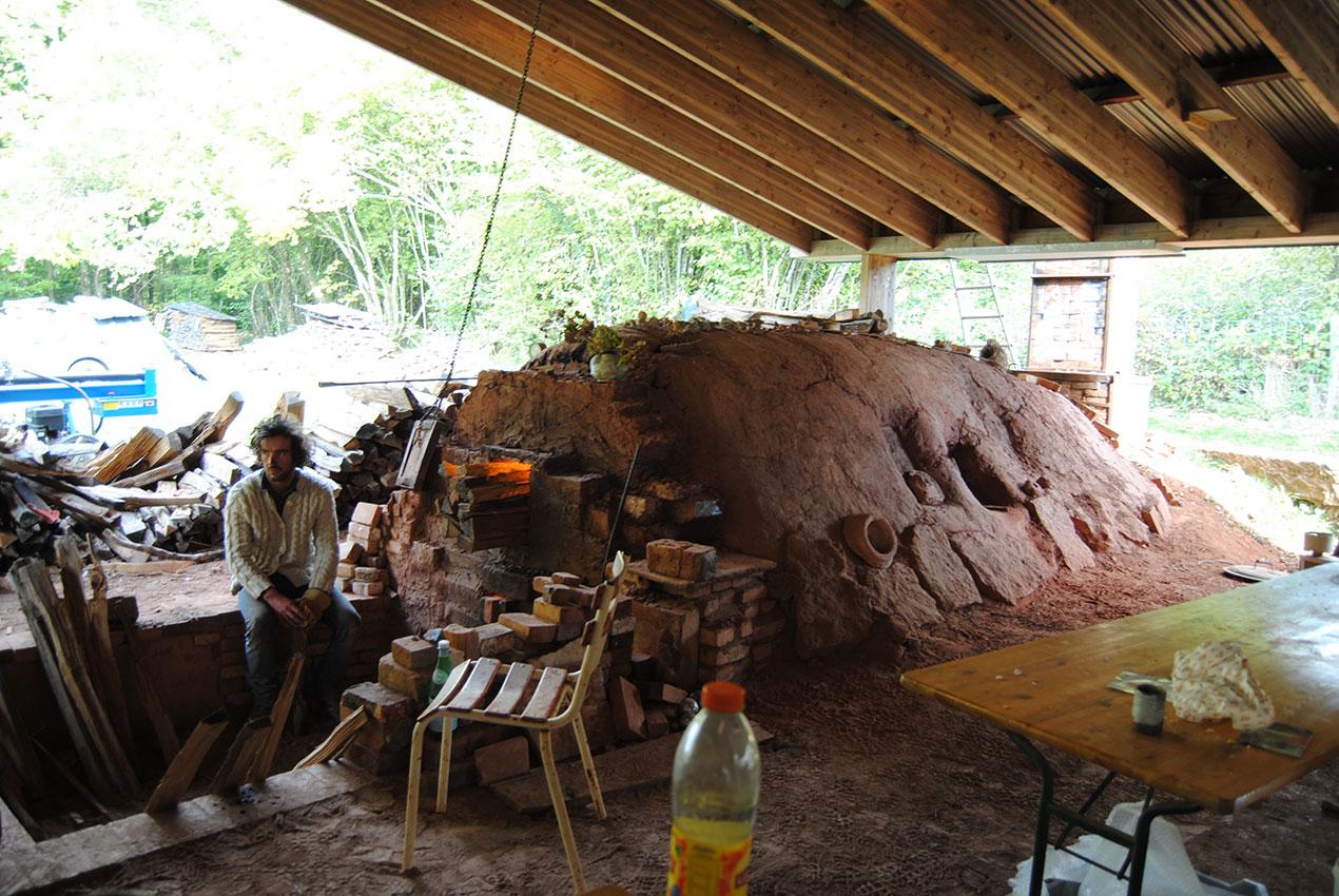 Horno anagama del centro Cerámico de La Borne