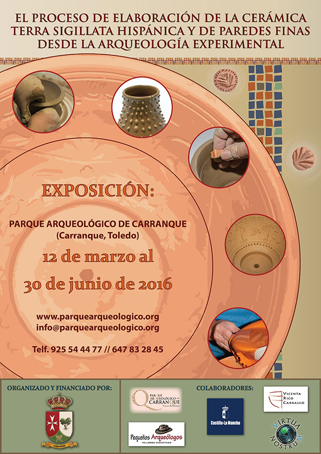 cartel de la exposición de cerámica romana