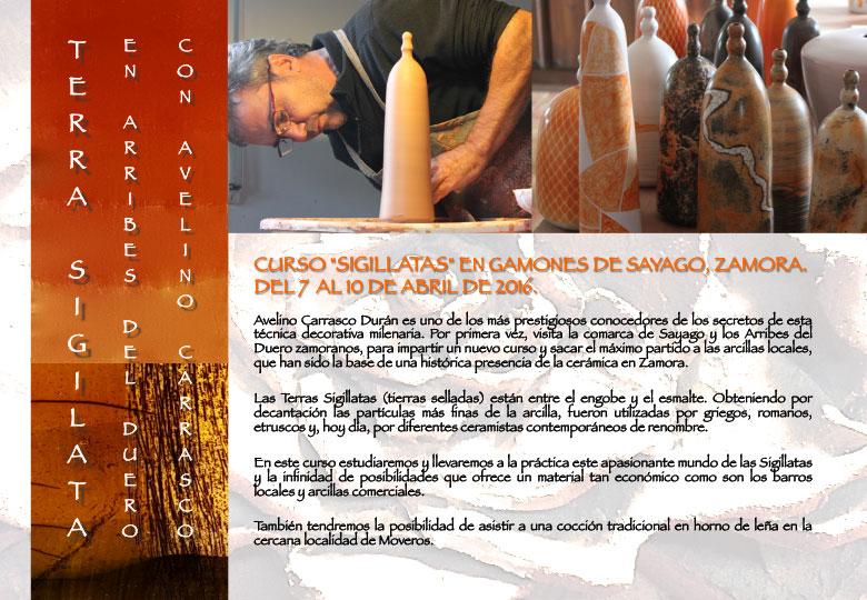 Cartel del curso de Avelino Carrasco
