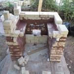 Construcción de horno-tren