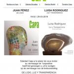 Cartel de la exposición de Juan Pérez en Capa Bruselas