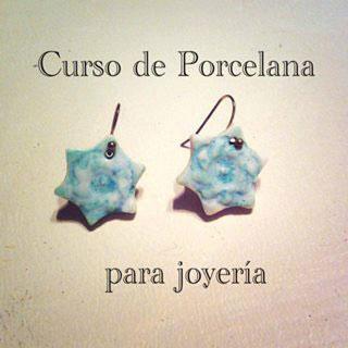 Cartel del curso de porcelana para joyería con María Torné