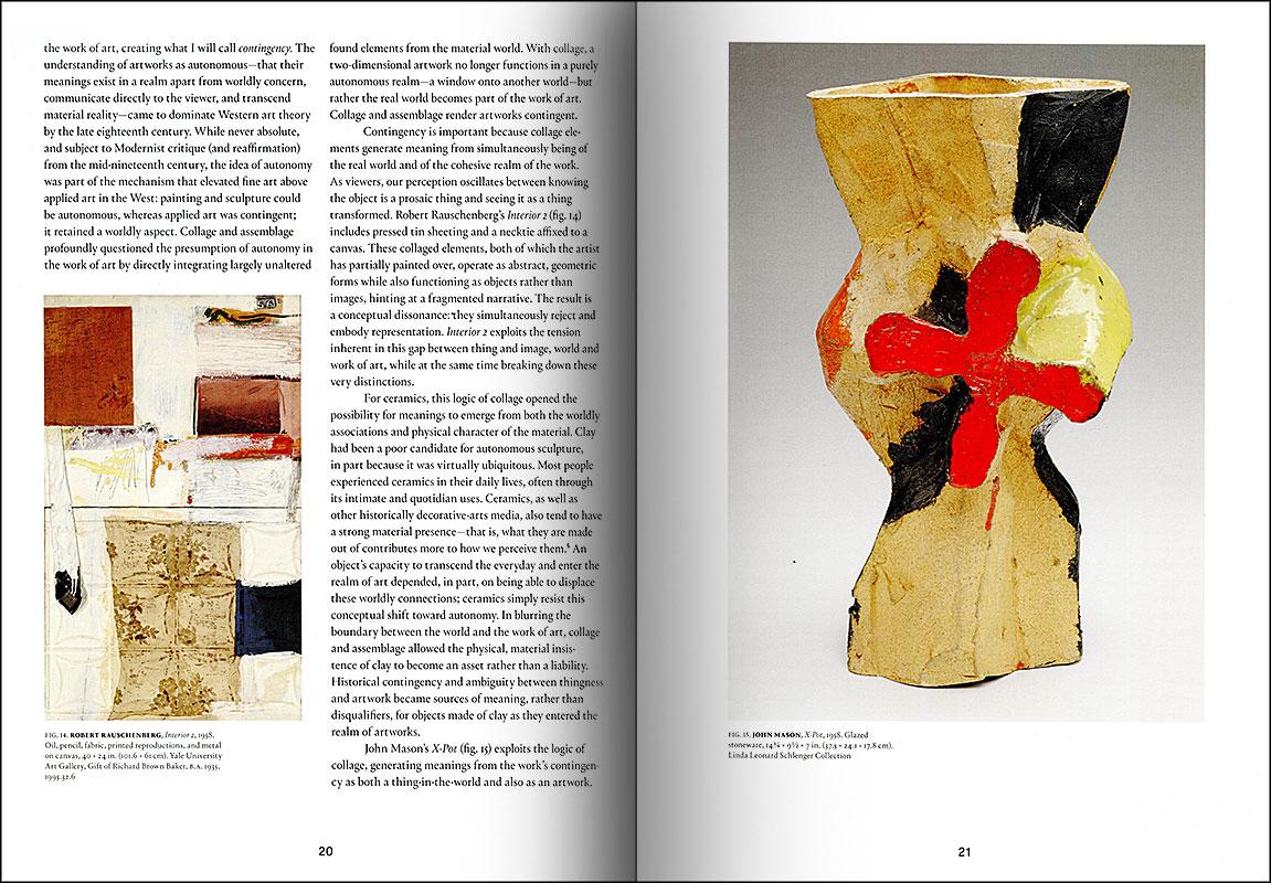 Páginas interiores del libro -The Ceramic Presence in Modern Art-, de la editorial Yale University Press