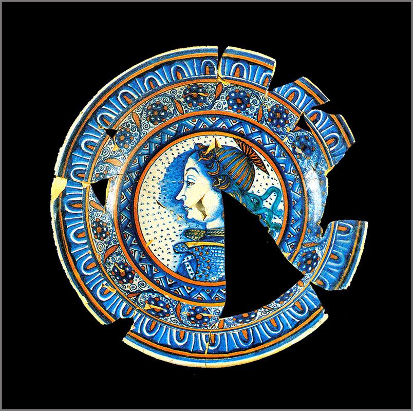 Logo del curso de restauraciónn cerámica de Clara Graziolino