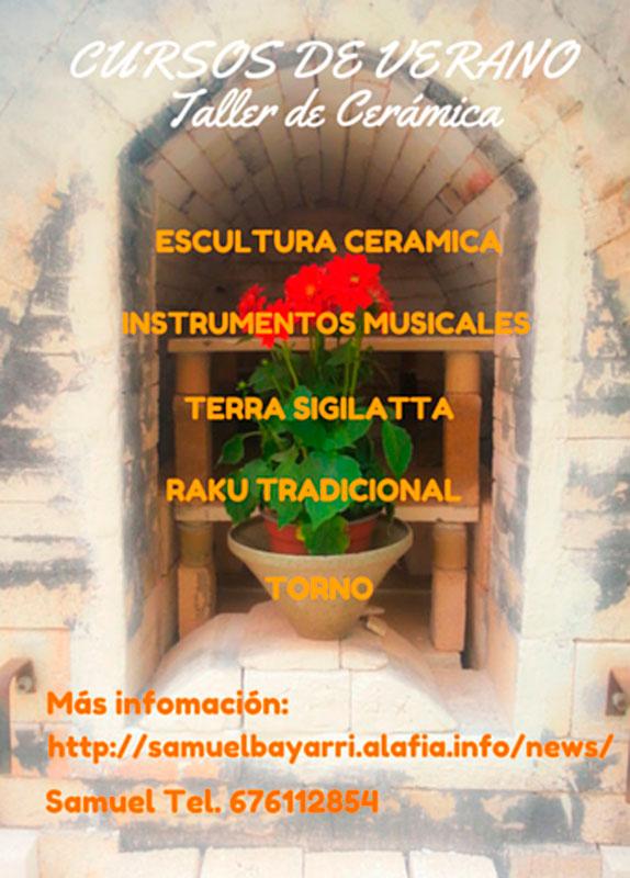 cartel de los cursos de verano con Samuel Bayarri