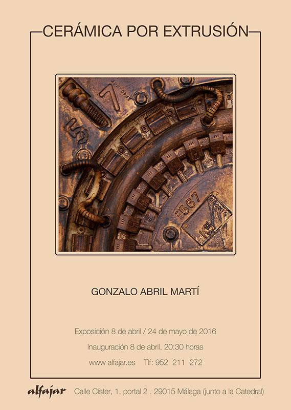 Cartel de la exposición de cerámica de Gonzalo Abril