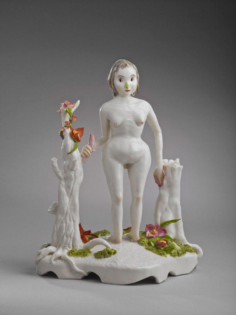 Escultura cerámica de Shary Boyle