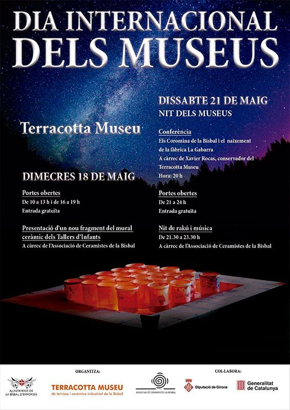 Cartel de la Noche de los Museos en Terracotta Museu, de la bisbal