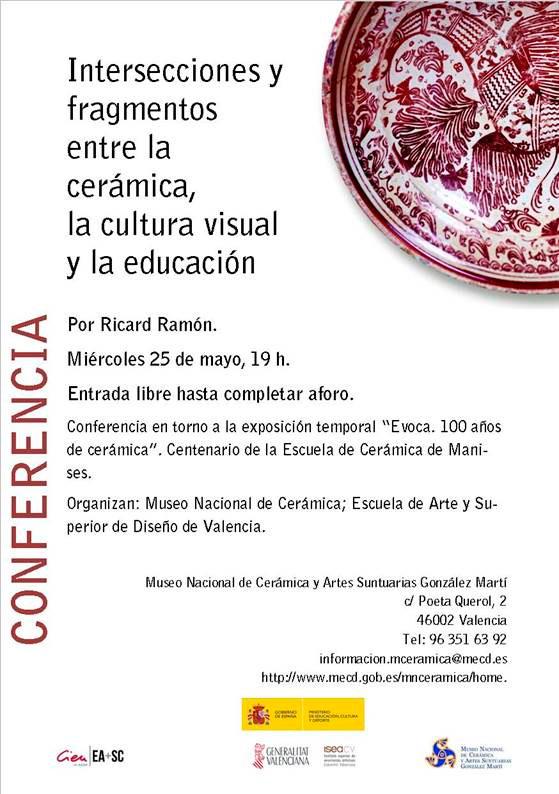 Cartel de la conferencia en el Museo de Cerámica de Valencia